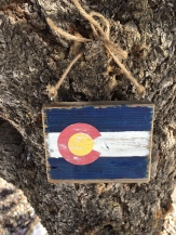 Mini Wooden Colorado Flag Wall Art