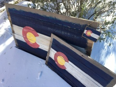 Rustic Repurposed Wood Colorado Flag Wall Art
