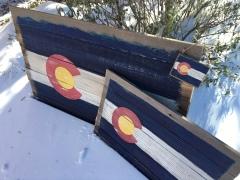 Rustic Repurposed Wood Colorado Flag Wall Art